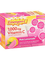 Emergen-C 1000Mg Vitamin C Pink Lemonade 0.30 Oz 30 Packets