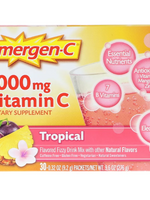 Emergen-C 1000Mg Vitamin C Tropical 0.30 Oz 30 Packets