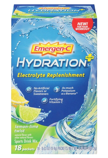 Emergen-C Hydration 18 Packets Lemon-Lime Twist Flavor Sports Drink Mix With C