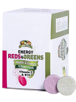Garden Greens Energy Reds & Greens Superfood Effervescent Tablets