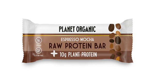 pack of 3 - Planet Organic Raw Vegan Protein Bar Espresso Mocha (50gX3)