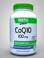 Foods Plus Coq10, 100Mg, 30 Capsules