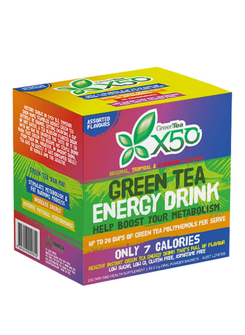 GREEN TEA X50 ASSORTED 60 SERVE