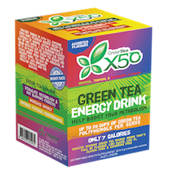 Green Tea+Resveratrol  X50 Assorted Flavours 30 Svngs