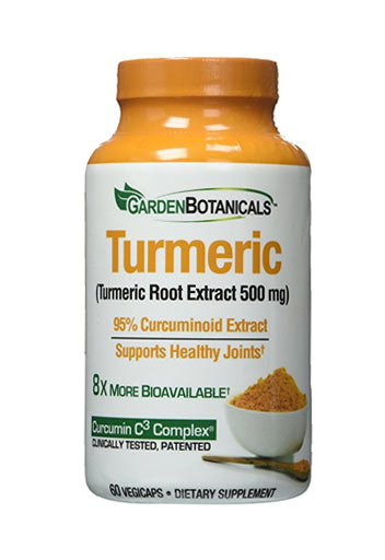Garden Botanicals Turmeric - 60 Caps, Dietary Supplement