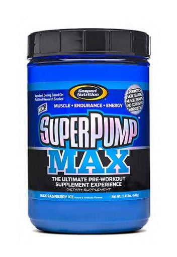 Gaspari Nutrition Superpump Max Pre-Workout Powder - Blue Raspberry Ice, 640G