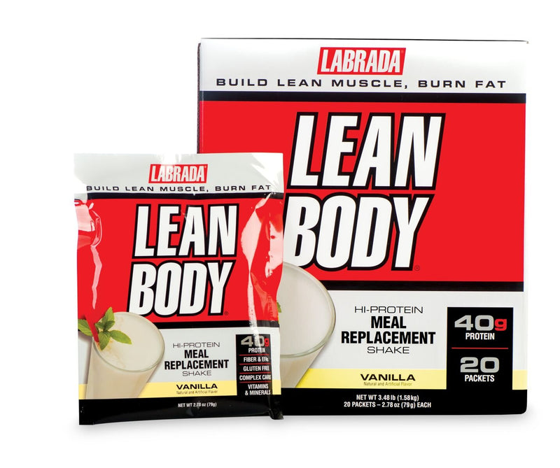 Labrada Lean Body Meal Replacement Vanilla 20 Packets