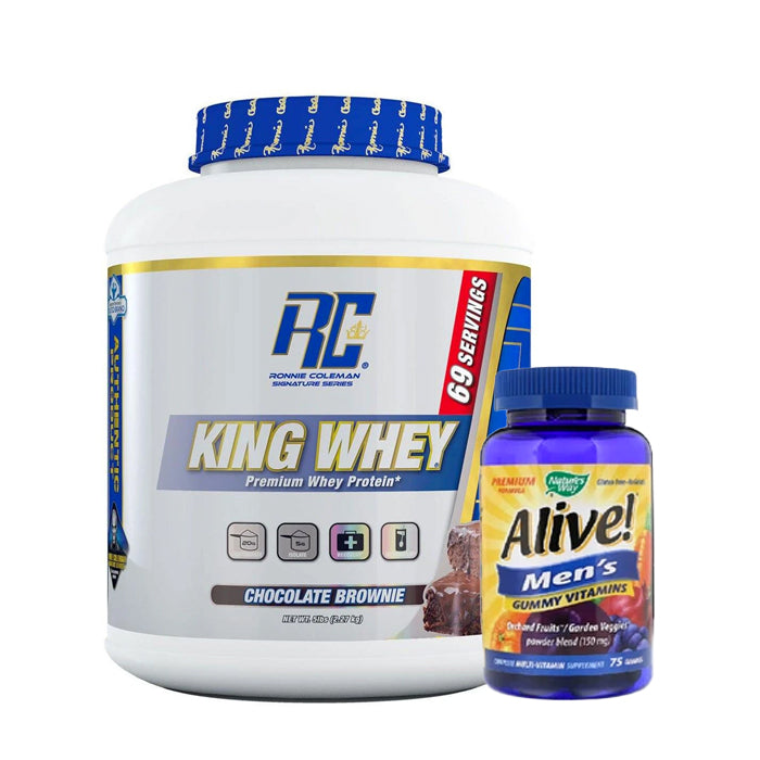 Combo Ronnie Coleman King Whey & Alive Men's