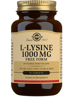 Solgar L-Lysine 1000Mg, 50 Tablets
