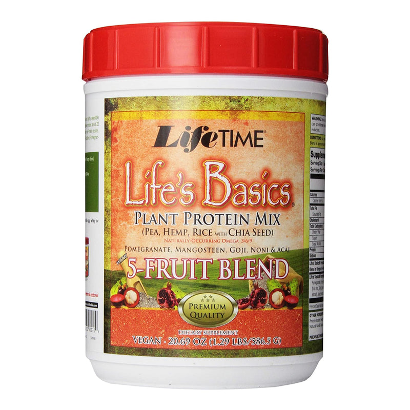 Lifetime 5 Fruit Protein Vanilla 1.3 LB (Expiring in December)