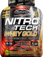 Muscletech Nitro Tech 100% Whey Gold 5.53Lb D Rich Chocolate
