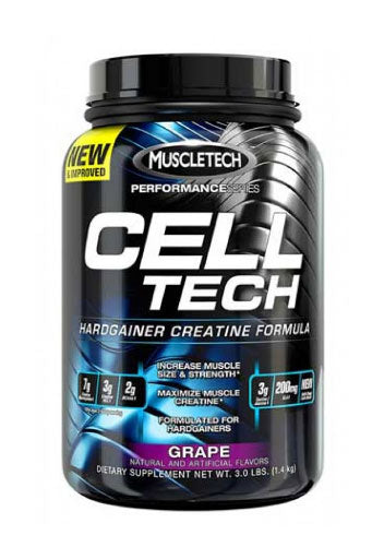 Celltech Performance Creatine Powder -  Grape, 3 Lbs