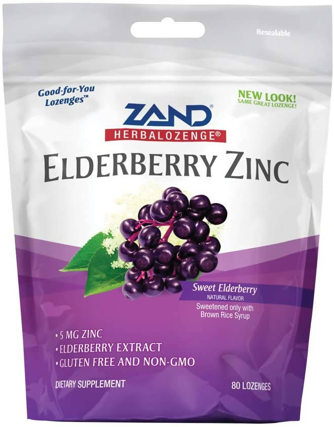 ZAND - ELDERBERRY ZINC LOZENGES; SWEET ELDERBERRY;80 COUNTS