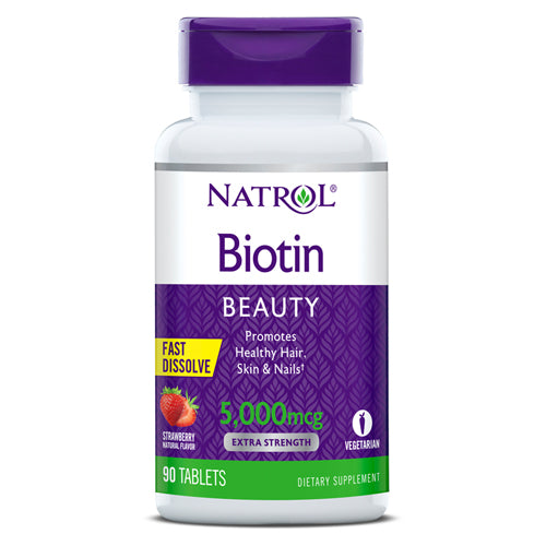 Natrol Biotin Beauty 5000mcg 90 tablets Strawberry