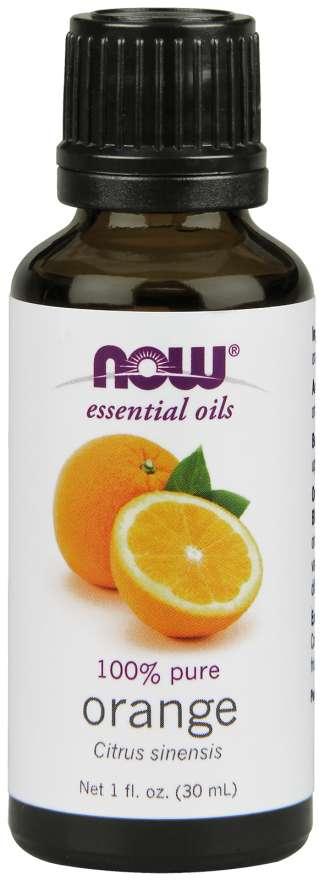 Now, Essential 100% Pure Oil, Orange Oil 1 Oz