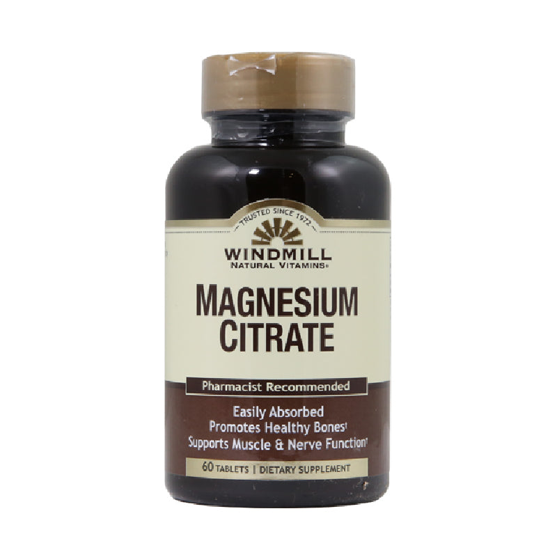 Windmill magnesium citrate, 400 mg, 60 tablets
