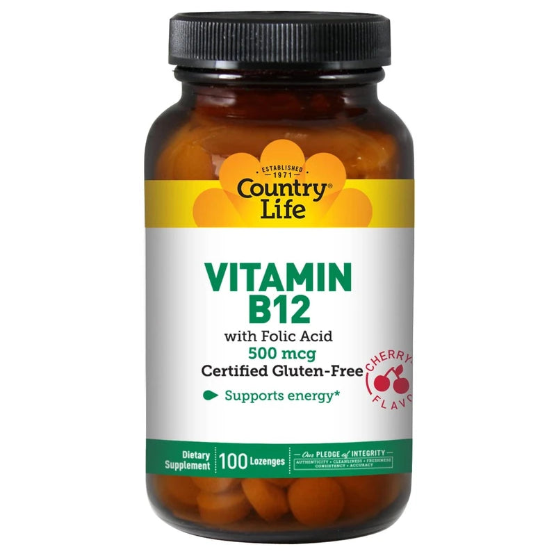 Country Life Vitamin B-12, 500 mcg - 100 Lozenges
