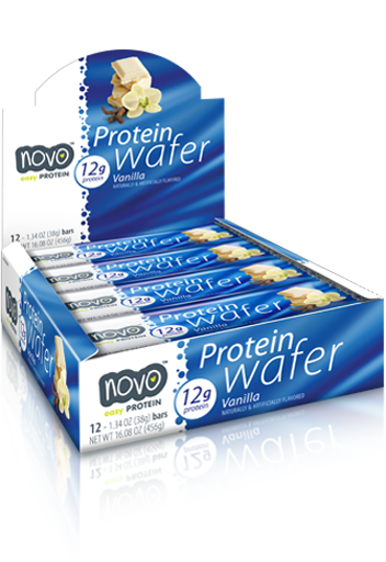 Novo Protein Wafer Bar Vanilla (12 pc / box) (Expiring in September)