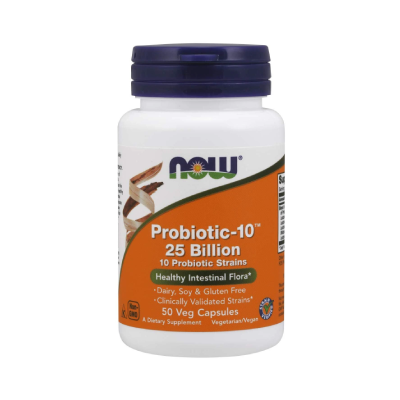 Now Probiotic-10 25 Billion 50 Vegiterian Capsules