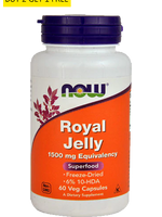 Now Foods, Royal Jelly 1500Mg 60Caps