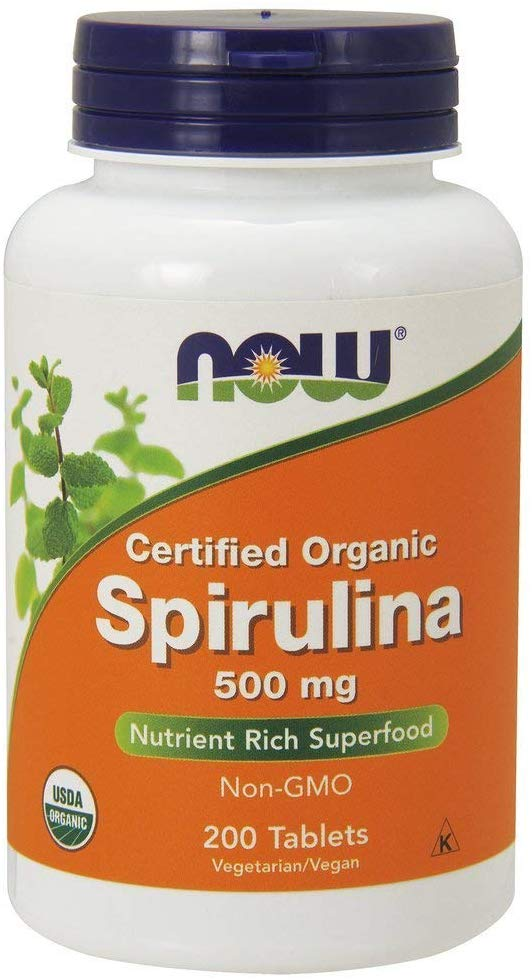Now Foods Spirulina 500Mg - 200 Tablets