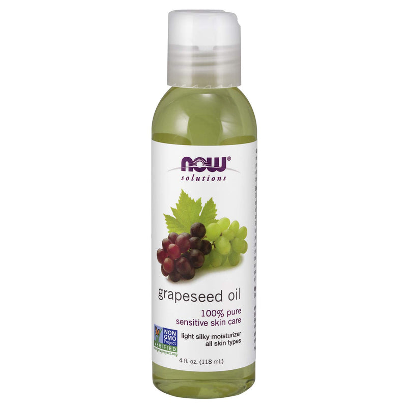 Now Solutions, Grapeseed 100% Pure Oil,  4 Oz