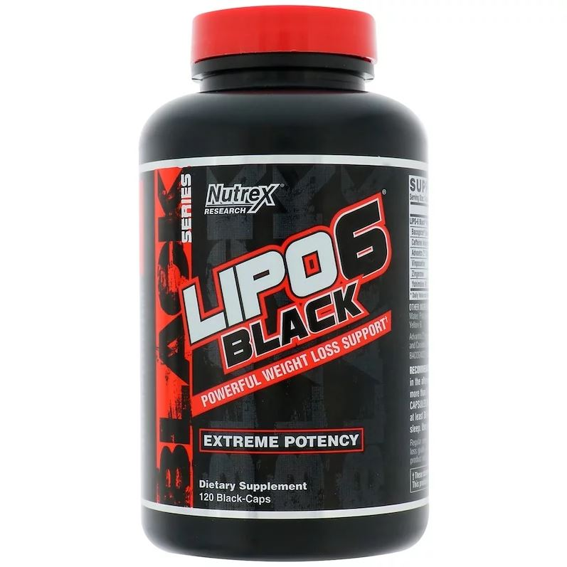 Nutrex Lipo 6 Black 120 Caps - Weight Loss Support
