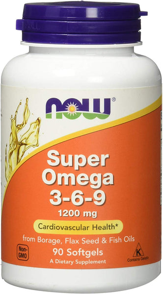 Now Super Omega 3-6-9 1200 Mg - 90 Softgels