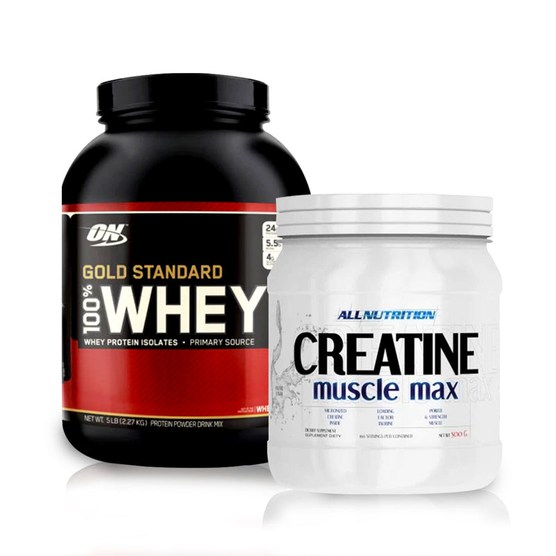 Optimum Gold Standard 100% Whey & CREATINE MUSCLE MAX STACK