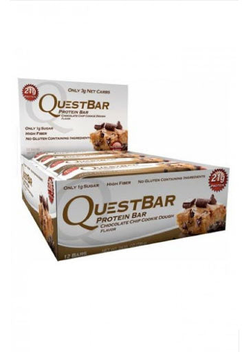 Quest Nutrition Quest Protein Bar - Chocolate Chip Cookie Dough - (12 Bars) (Expiring in December)