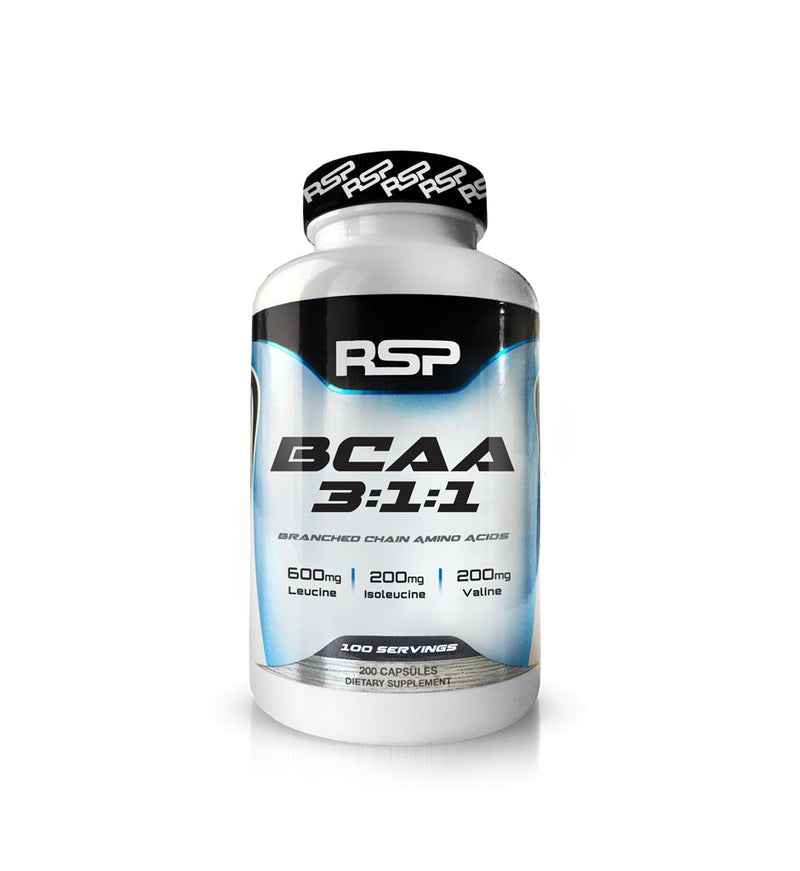RSP BCAA 3:1:1 200 Capsules, Dietary Supplement