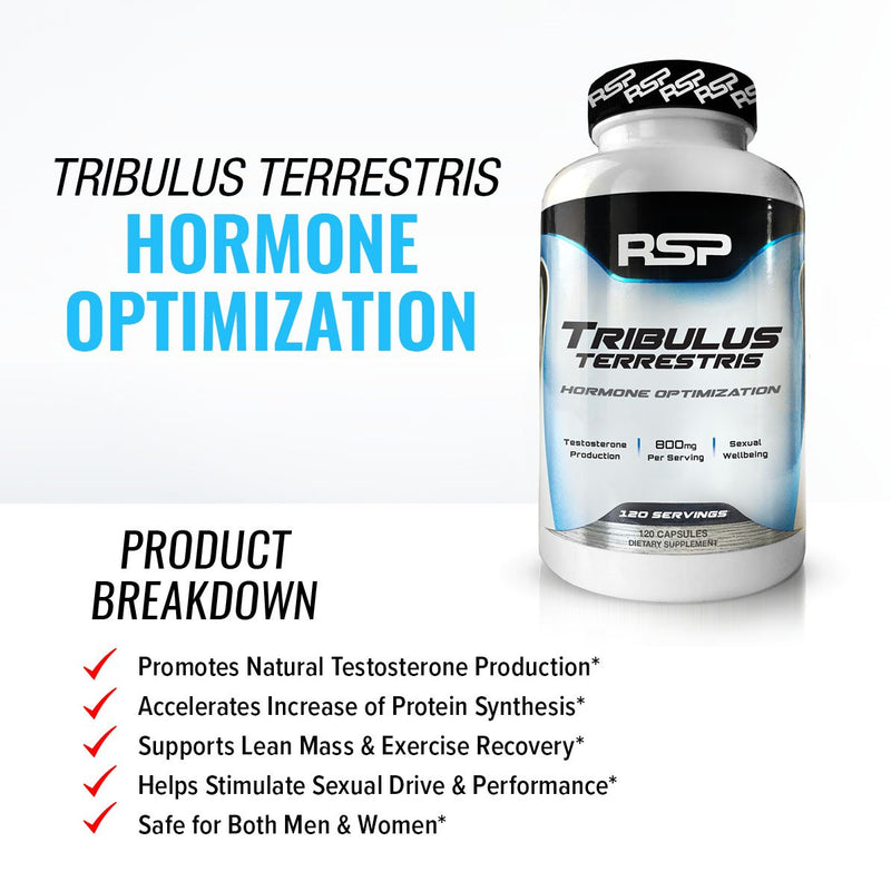 RSP Tribulus Terrestris  120 Caps Harmone Optimization