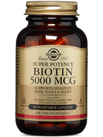Solgar Super Potency Biotin 5000 Mcg Non Flavoured 50 Caps