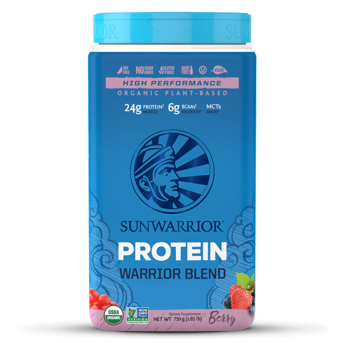 Sunwarrior Warrior Blend Berry 750 Gm - Berry Flavour