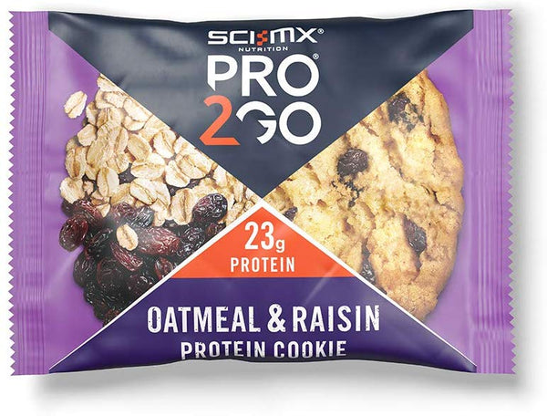 Sci-Mx Nutrition Pro 2Go Protein Cookie, Oatmeal & Raisin, 75G