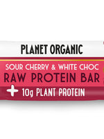 pack of 3 - Planet Organic Raw Vegan  Protein Bar White Choc Chip & Sour Cherry