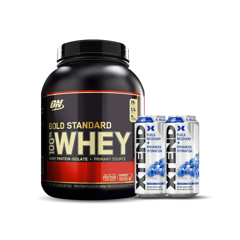Buy Optimum Nutrition 5LB Whey, Get 2 * XTEND RTD Free