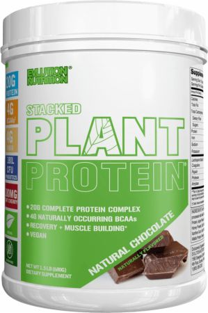 Evlution Nutrition Stacked Plant Protein, 1.5lb, Natural Chocolate