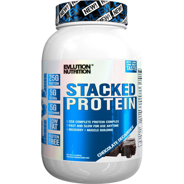Evlution Nutrition Stacked Protein 2 Lb, Chocolate Decadence