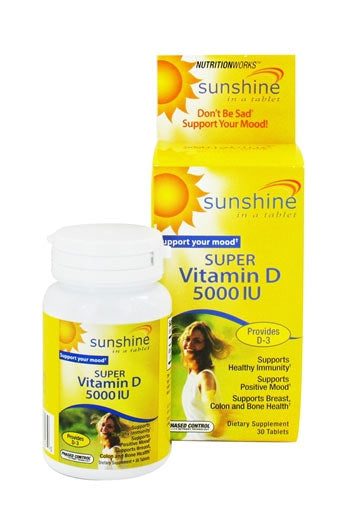 Sunshine, Super Vitamin D,  5000 Iu - 30 Tabs