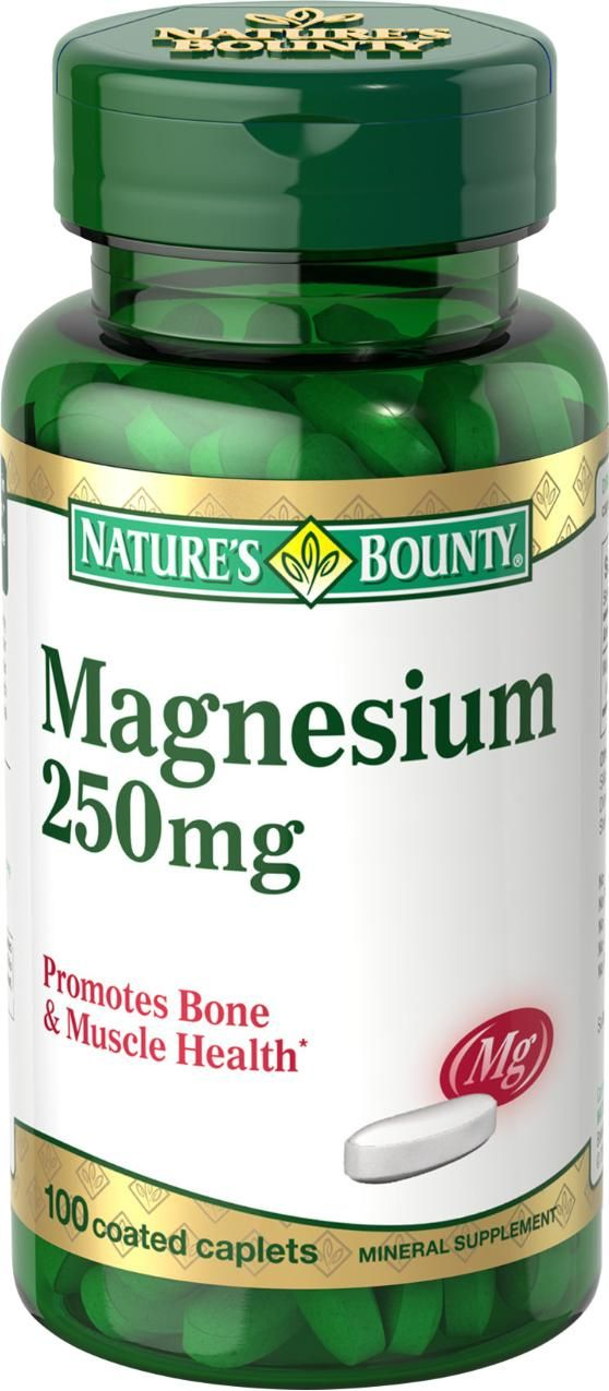NATURE'S BOUNTY, MAGNESIUM OXIDE       250 mg, 60's 100's