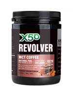 TRIBECA HEALTH X50 REVOLVER 20SVG 400GM HAZELNUT  MOCHA