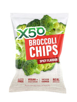 TRIBECA HEALTH X 50 BROCCOLI CHIPS SPICY 60GMS