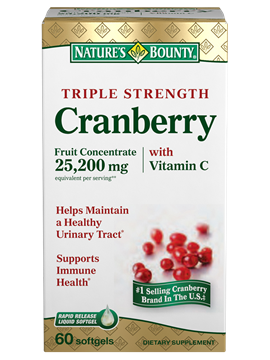 NATURE'S BOUNTY, CRANBERRY WITH VIT. C & E, 100's 60's