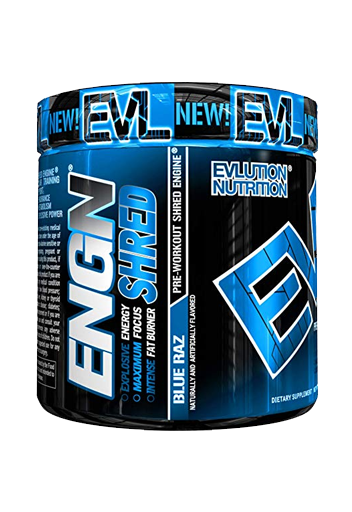 Pre Workout Evlution Nutrition Engn , 30 Servings  Blue Rasberry