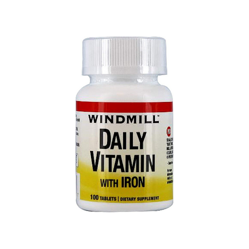 Windmill Daily Vitamin Tablets With Iron 100 Tablets (Expiring in December)