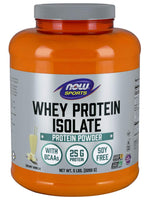 Now Sports Nutrition, Whey Protein Isolate, Creamy Vanilla, 5 Lb