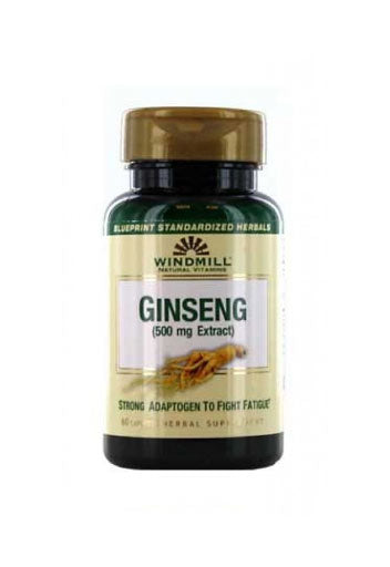 Windmill Ginseng 500 Mg - 60 Capsules,Dietary Supplement