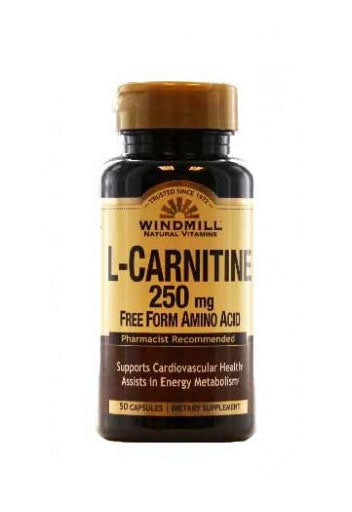 Windmill L Carnitine 250 Mg - 50 Capsules