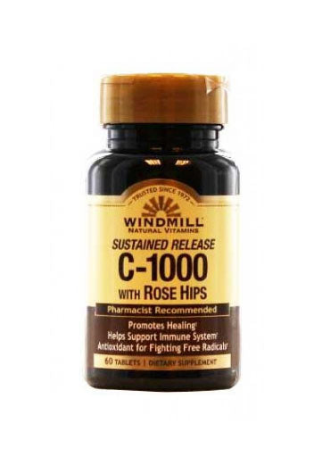Windmill Vitamin C-1000 Mg. With Rose Hips - 60 Caps